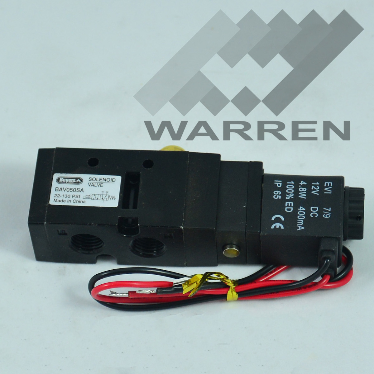 Air Tailgate Valve 4 Way 2 Position Solenoid Valve - Warren Truck ...