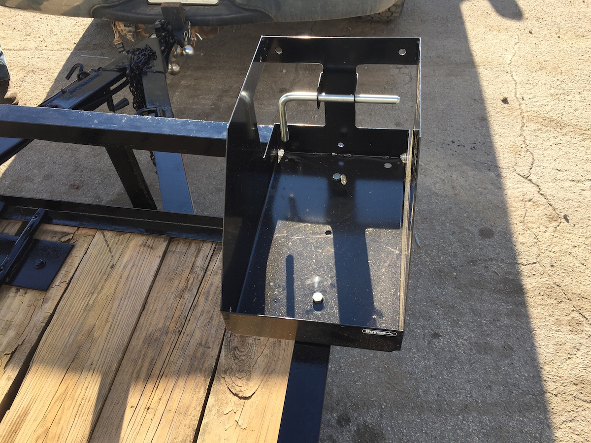 LandscapeTrailer-Accessories. Custom Landscape Trailer.  LandscapeTrailer-Gas-Can-Rack - Landscape Trailer Racks & Accessories - Warren Truck & Trailer, Inc.
