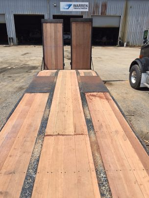 Apitong wood floor on flatbed trailer