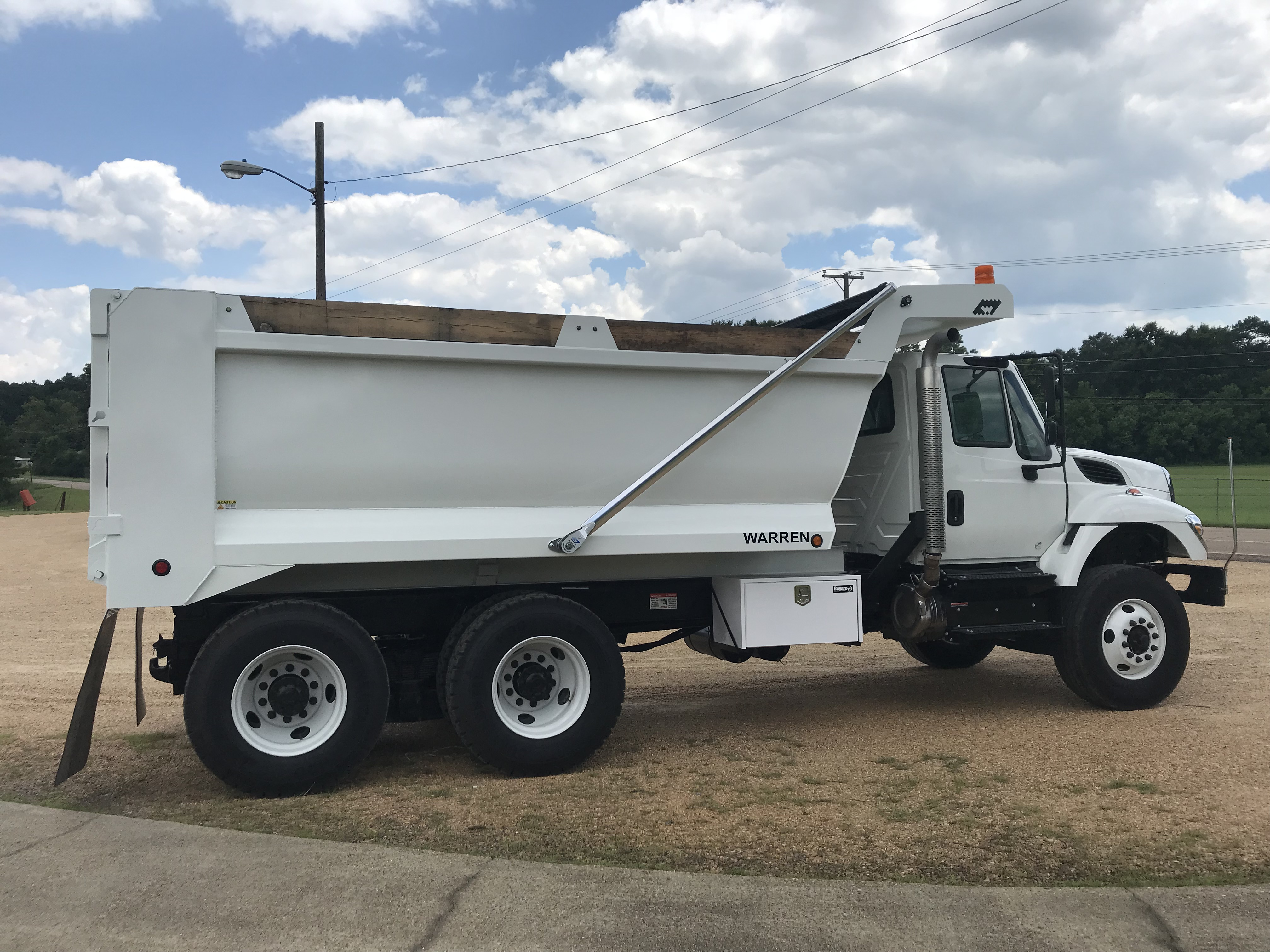 sloped front demolition dump body